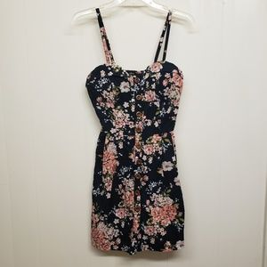 Like New! Black Floral Print Dress